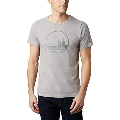 Columbia Bluff Mesa Graphic T-Shirt Homme Grey O FR: 2XL (Taille Fabricant: XXL)