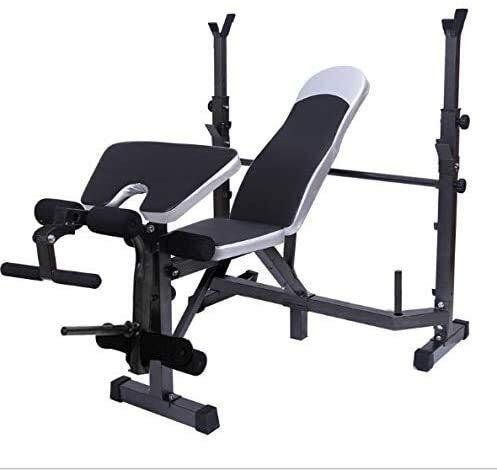 DSHUJC Weight Bench Dumbbell Weight Lifting Weight Bench Barbell Lifting Press Gym Equipment Exercise Adjustable Incline