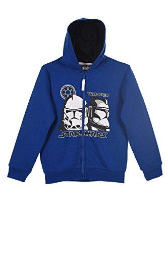 Star Wars Yoda Startroopers Darth Vader (1040) - Kinder Kapuzenpullover Pullover Sweatshirt Hoody, Blau, Größe 104