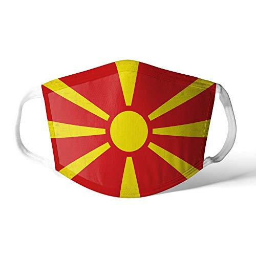 M&schutz Maske Stoffmaske X Groß Europa Flagge Mazedonien/Mazedonisch Wiederverwendbar Waschbar Weiches Baumwollgefühl Polyester Fabrik