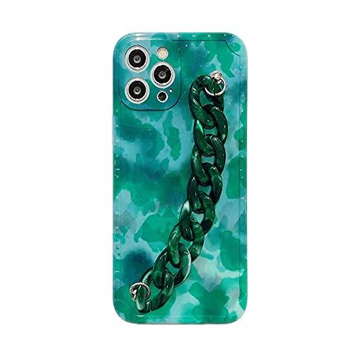 LIUYAWEI Estuches de teléfono con Pulsera de patrón ámbar Vintage para iPhone 12 11 Pro MAX 12mini X XS XR 7 8 Plus Carcasa Trasera IMD Suave con Cadena, B2 con Cadena, para iPhone XS MAX