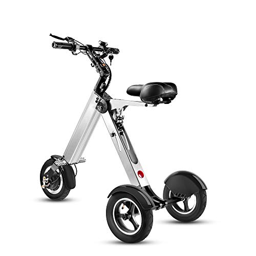 TopMate ES32Electric Scooter Mini Tricycle, Key Switch 3 Gears, 10InchesPneumatic Tireswith Comfortable Suspension, for Mobility Assistance and Travel Bicycles Electric Features Outdoor Recreation