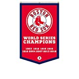 2Love Boston Red Sox 9-Time World Series Champions Banner Flag 30'x50'Inch Man Cave (Red 1)