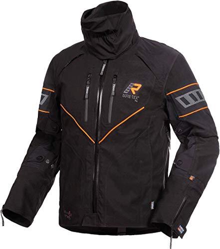 Rukka Realer GTX Motorcycle Textile Jacket - Chaqueta textil para moto, color negro y amarillo