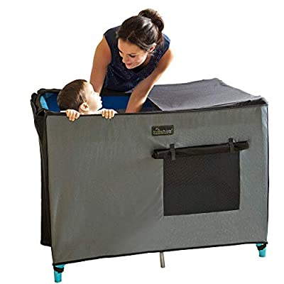 SnoozeShade for Travel Cots - blackout sleep canopy for standard travels cots