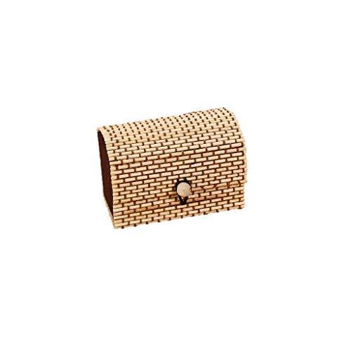 Sulifor Einfache und große kapazität kreative Bambus Vorhang Holz schmuck Ring kleine schmuck aufbewahrungsbox Ohrringe schmuckschatulle schatzkasten