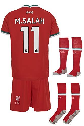 Liverpool M.Salah 2019/20 Heim Trikot und Shorts Kinder und Jugend Größe (152-9-10 Jahre, Heim)