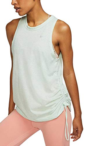 Nike Women's Cinched Miler Running Tank Top (Pistachio Frost, Small)