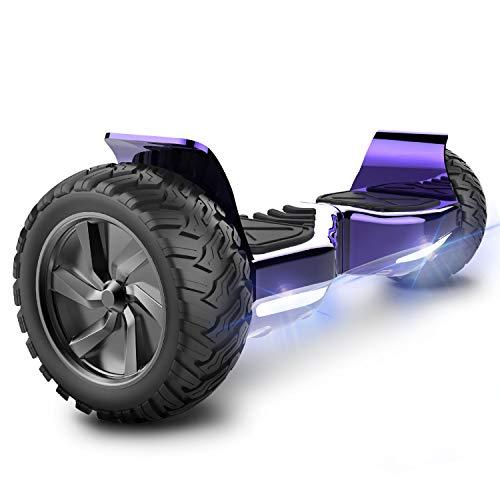 RCB Hoverboard 8,5 Zoll All Terrain Elektroroller Self Balance Scooter Hummer Eingebaute Bluetooth APP LED mit leistungsstarkem Motor 2 * 350W Geschenk für Kinder und Jugendliche