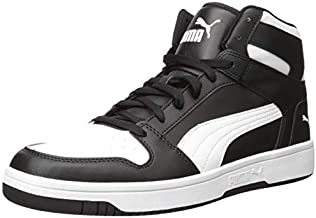 PUMA Rebound Layup Shoe, Black White, 11 M US