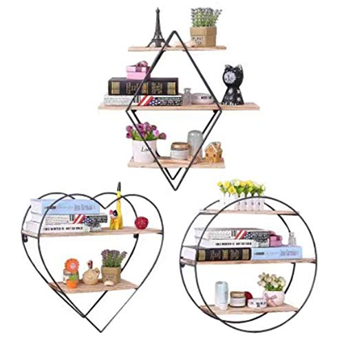 N / A Creative Wall-Mounted Shelf, Home Decoration, Strong Flexibility, Wrought Iron Metal, Environmentally Friendly Paint, Strong Bearing Capacity, not Easy to deform and Float