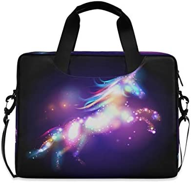 Yulife Magic Galaxy Unicorn Laptop Bag Sleeve Case for Women Men Horses Starry Briefcase Tablet product image