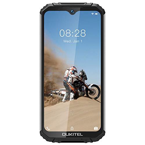 OUKITEL WP1 2019 Rugged Smartphone 4G Dual SIM Móvil, 5000mAh 5.5' HD 18: 9 Pantalla, 4GB RAM+64GB ROM, IP68 Impermeable Prueba de Golpes y Polvo Android 8.1 Cámara 13MP + 2MP + 5MP (Negro)