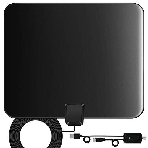 Indoor TV Aerial, 130 Miles Digital HDTV Amplified Antenna Arial Freeview...