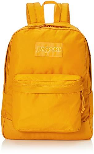 JanSport Mono SuperBreak Backpack - Monochrome Trend Collection Laptop Bag, English Mustard