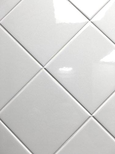 4x4 White Glossy Finish 4 1/4x4 1/4 Ceramic Subway Tile Shower Walls Backsplashes
