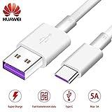 Huawei Cavo Fast Type-C Ap71 Supercharge Cavetto Ricarica Veloce Cavo Dati USB 3.1 per P20, P20 Pro, Mate 10 Pro, Mate 20, Mate 20 Pro Blister Confezione Ufficiale