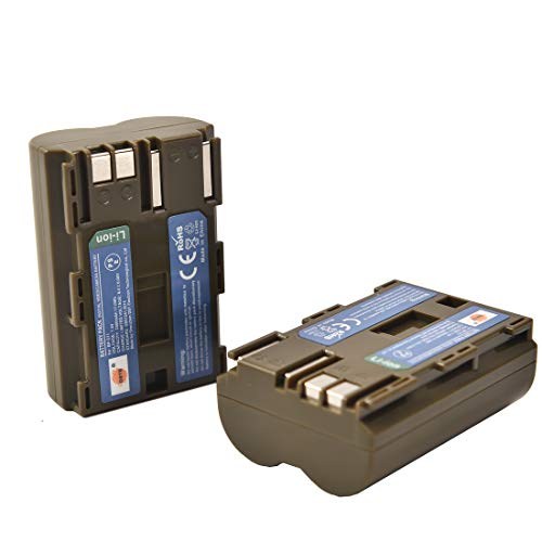 DSTE 2-Stück Ersatzakku Set BP-511 Batterie kompatibel mit Canon EOS 5D EOS 10D EOS 20D EOS 300D EOS 30D EOS 40D EOS 50D EOS D30 EOS D60