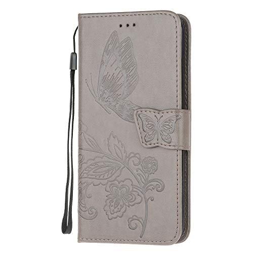 Samsung Galaxy S9 hoesje, schokabsorberend premium lederen vlinder portemonnee hoesje met kickstand kaartsleuven magnetische sluiting Flip Notebook schokbestendig TPU Bumper telefoonhoesje voor Samsung Galaxy S9