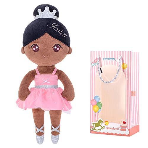 Gloveleya Personalizada Muñeca de Peluche muñeca de Trapo Peluche Regalo de niña Suave y Seguro para Jugar - Bailarina de Ballet Bailarina de Ballet