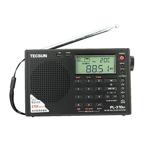 TECSUN PL-310ET FM Stereo SW MW LW World Band PLL DSP Radio Black by allnice