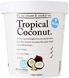 The Ice Cream & Cookie Co Vegan Tropical Coconut Ice Cream, 473 ml - Frozen