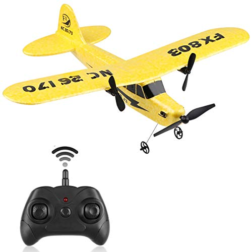 RC Plane Remote Control 2.4G 2 Channel RC Airplane FX-803 Built-in 6-Axis Gyro EPP Airplane RC Aircraft Glider for Beginner Adult Kids Boys