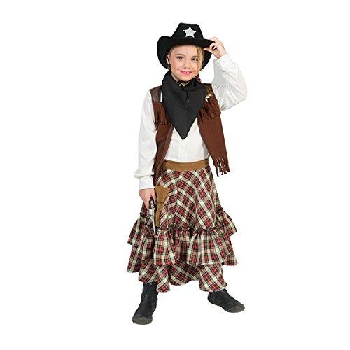 Kostümplanet Cowgirl-Kostüm Mädchen braun Faschingskostüm 152