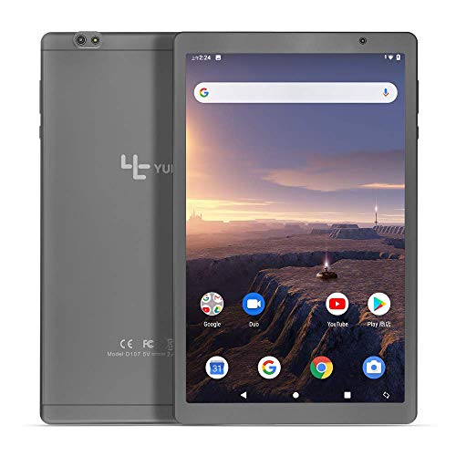 YUNTAB 10.1 inch Tablet PC, 1.6 GHz Octa Core CPU, Android 9.0, 2GB RAM 32GB ROM, 8001280 IPS Touch Screen, with WiFi, GPS, Dual Camera, Google Play(Silver Gray)