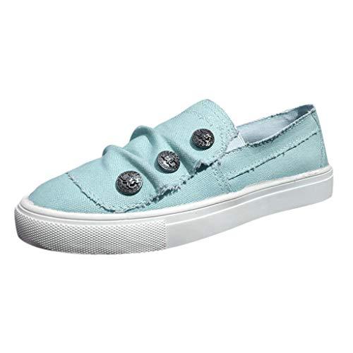 Eaylis Damen Denim Canvas Schuhe Flache Unterseite Falten Schuhe Volltonfarbe Sandalen Sommer Strand Schuhe Hausschuhe Stilvoll