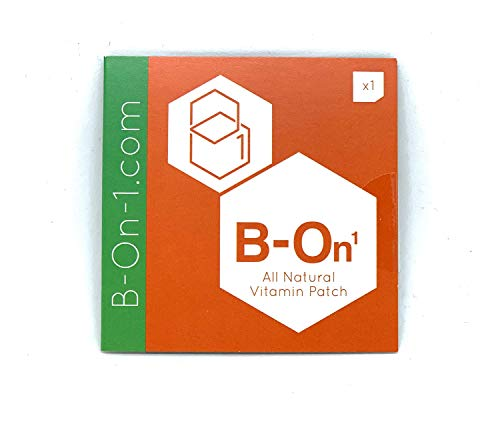 B On 1 Patch - 5 Pack. Natural Vitamin B1 Patch. for a Great Night and a Better Morning. Feel Refreshed.