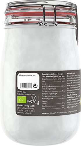 Ölmühle Solling Bio Kokosöl im Bügel-Glas 1000ml - 6
