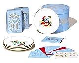 Voiello La Scaramantica GiftBox 2020, Idea Regalo con Pasta Voiello, Piatti di Porcellana da Collezione e 13 Cartelle della Tombola con le Ricette dello Chef Antonino Cannavacciuolo, Edizione Limitata