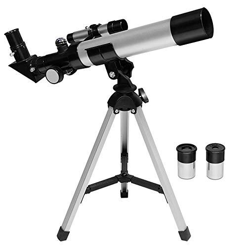 Telescopio Telescopio para los principiantes de astronomía con trípode de acero robusto, telescopio de refractor astronómico de 90...