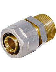 WIROFLEX voor meerlaagse verbindingsbuis 16 mm. 16 mm x 1/2 AG 16 mm x 1/2 inch Ag.
