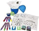 SRV Hub® - Juego de 24 huevos para niños con licencia de personajes para niños, accesorios para colorear dentro de un huevo, juguete educativo para niños de más de 3 años (PJ Mask Craft Egg)