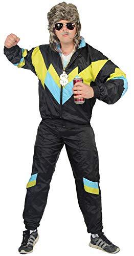 jaren '80 trainingspak kostuum voor mannen - zwart geel babybla - maat S-XXXXL - Joggingbroek Assi, maat:XXL