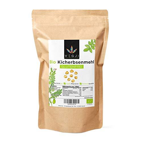 Bio Kichererbsenmehl in Rohkostqualität & Glutenfrei, aus Bio-Anbau in Italien - 1000g