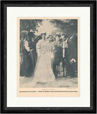 Kunstdruck Großherzogin Luise von Baden eröffnet Industrieausstellung F_Vintage 01654