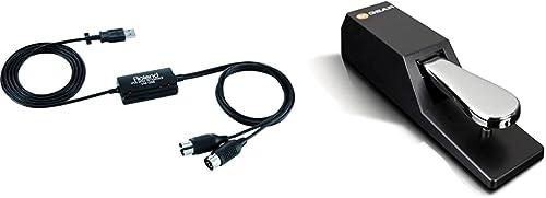 Roland UM-ONE MK2 Interface USB MIDI & M-Audio SP-2 - Pédale de Sustain Universelle de Type Piano pour des Claviers É...