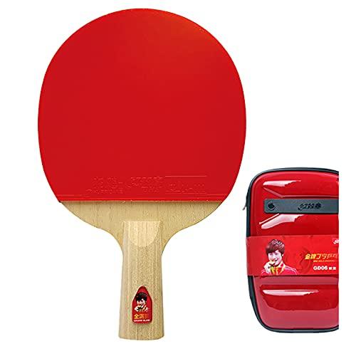 SGAIYUNRT Palas Ping Pong de Carbono Tiene Buena Rotación, Control, Raquetas de Tenis de Mesa con Medalla de Oro de Grado