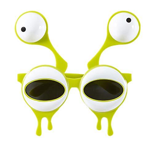 WIDMANN wid14402?Gafas Extraterrestre con ojos dobles, Amarillo, talla única