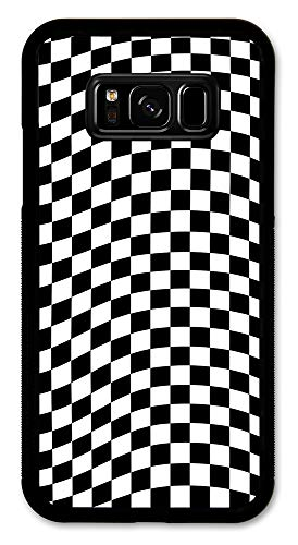 Cell Phone Cover - Slim Fit - Compatible with Samsung Galaxy S8 - Checkered Flag