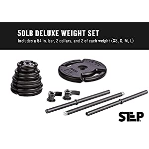 Club Quality 4-Weight Deluxe Barbell Set (Includes The bar)