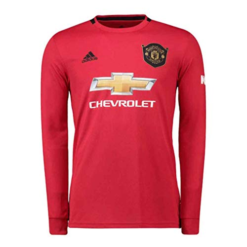 Manchester United 2019/2020 Home Long Sleeve Jersey (S) Black/Red