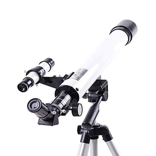 Jszzz Telescopio astronómico Profesional D-50T niños Estudiantes de Entrada de la Estrella de Alta definición HD