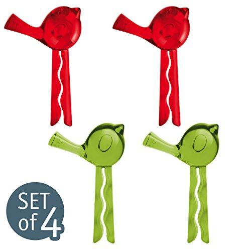 koziol [ [pi: p] transparent olivgrün/rot Verschlussclip 4er-Set, Thermoplastischer Kunststoff, 1.9 x 4.7 x 7.5 cm, 4-Einheiten