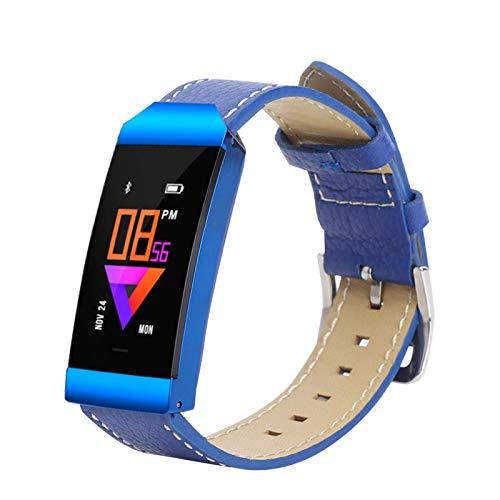 DAUERHAFT Posicionamiento Elegante de GPS del Reloj de la Pulsera de la Pulsera Elegante, Pantalla a Color del Metal(Blue)