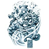 KTTO Brazo del Tatuaje Etiqueta engomada del Tatuaje a Prueba de Agua Medio Brazo Tang Lion Patrón 6Pc / Set 14.8X21Cmx6Ps