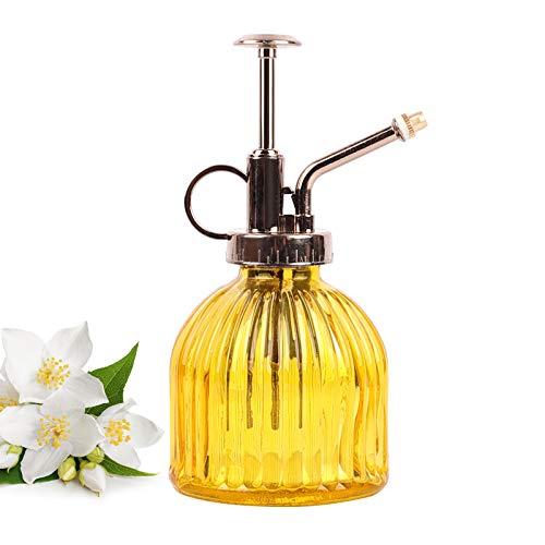 Ulikey 200ml Botella de Spray de Riego, Spray Botella Retro Vidrio, Planta Botella de Niebla a Presión Manual, Pequeña Regaderas para Plantas, Flor, Jardín, Limpieza